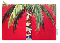 South Beach Palm II Carry-all Pouch by Kristen Abrahamson
