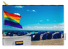 Carry-all Pouch featuring the photograph South Beach Pride by Melinda Ledsome