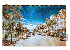 Carry-all Pouch featuring the photograph South Beach Road by Melinda Ledsome