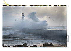 South Breakwater In The Storm Carry-all Pouch