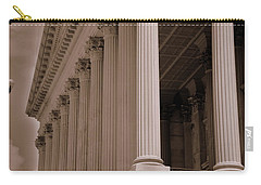 Carry-all Pouch featuring the photograph South Carolina State House Columns  by Lisa Wooten