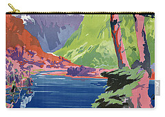 South Island New Zealand Vintage Poster Restored Carry-all Pouch