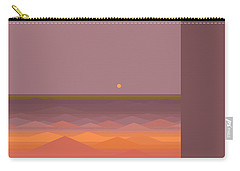 Carry-all Pouch featuring the digital art South Sea Abstract by Val Arie