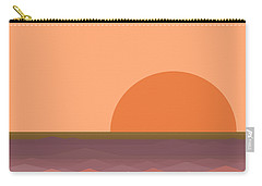 Carry-all Pouch featuring the digital art South Sea Sunrise by Val Arie