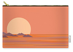 Carry-all Pouch featuring the digital art South Sea by Val Arie