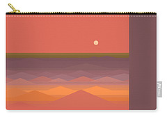 Carry-all Pouch featuring the digital art South Seas Abstract by Val Arie