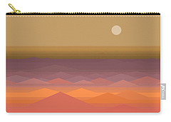 Carry-all Pouch featuring the digital art South Seas Sunrise - Vertical by Val Arie