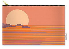 Carry-all Pouch featuring the digital art South Seas by Val Arie