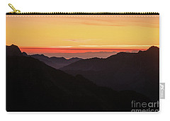 South Sound Sunset Layers Carry-all Pouch by Mike Reid