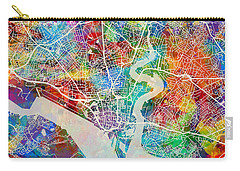 Southampton England City Map Carry-all Pouch