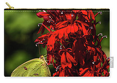 Southern Dogface On Cardinal Flower Carry-all Pouch by Barbara Bowen