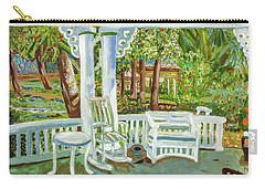 Carry-all Pouch featuring the painting Southern Porches by Margaret Harmon