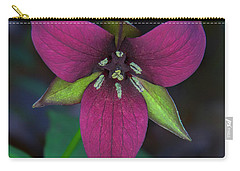 Southern Red Trillium Carry-all Pouch by Barbara Bowen