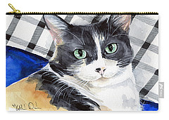 Southpaw - Calico Cat Portrait Carry-all Pouch