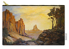 Carry-all Pouch featuring the painting Southwest by Alan Lakin