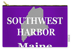 Carry-all Pouch featuring the photograph Southwest Harbor Maine State City And Town Pride  by Keith Webber Jr
