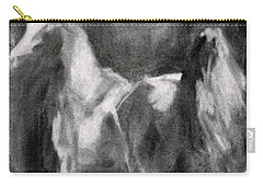 Carry-all Pouch featuring the painting Southwest Horse Sketch by Frances Marino