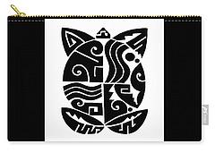 Carry-all Pouch featuring the digital art Southwest Tribal Tortuga by Vagabond Folk Art - Virginia Vivier