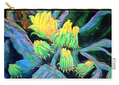 Carry-all Pouch featuring the pastel Southwesterly Cactus Impression Of.....sold by Antonia Citrino