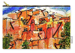 Southwestern Architecture Carry-all Pouch by Terry Banderas