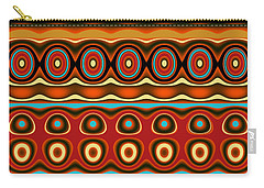 Carry-all Pouch featuring the digital art Southwestern Colors Pattern by Jessica Wright