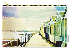 Carry-all Pouch featuring the photograph Southwold Beach Huts by Anne Kotan