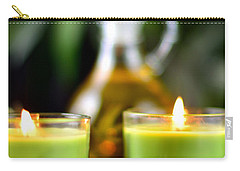 Spa Rocks And Candles Carry-all Pouch by Serena King