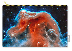 Space Image Horsehead Nebula Orange Red Blue Black Carry-all Pouch by Matthias Hauser