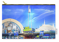 Carry-all Pouch featuring the photograph Space Mountain Entrance Panorama by Mark Andrew Thomas