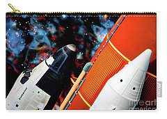 Carry-all Pouch featuring the digital art Space Shuttle by Ray Shiu