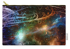 Carry-all Pouch featuring the digital art Space Time Continuum by Linda Sannuti