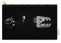 Spaceship Uss Cumberland Traveling Through Deep Space Carry-all Pouch by David Robinson