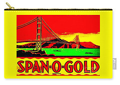 Span O Gold Golden Gate Bridge Carry-all Pouch by Peter Gumaer Ogden