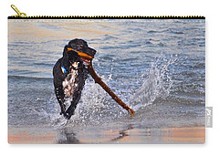 Spaniel With A Stick Carry-all Pouch