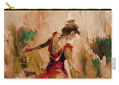 Carry-all Pouch featuring the painting Spanish Dance Culture  by Gull G