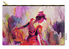Carry-all Pouch featuring the painting Spanish Female Art 0087 by Gull G