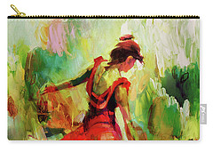 Carry-all Pouch featuring the painting Spanish Female Art 56y by Gull G