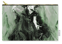 Carry-all Pouch featuring the painting Spanish Flamenco Dancer by Gull G