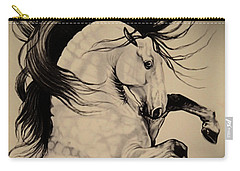 Spanish Horses Carry-all Pouch by Cheryl Poland