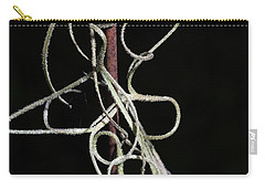 Carry-all Pouch featuring the photograph Spanish Moss On Wire by Richard Rizzo