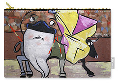 Carry-all Pouch featuring the painting Spanish Tooth by Anthony Falbo
