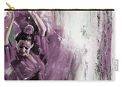 Carry-all Pouch featuring the painting Spanish Woman Dance  by Gull G