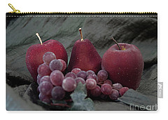 Carry-all Pouch featuring the photograph Sparkeling Fruits by Sherry Hallemeier