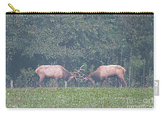 Sparking Elk On A Foggy Morning - 1957 Carry-all Pouch