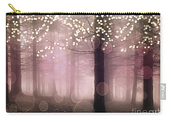 Sparkling Fantasy Fairytale Trees Nature Pink Woodlands - Sparkling Lights Bokeh Fantasy Trees Carry-all Pouch