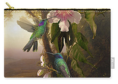 Sparkling Violetear Hummingbirds And Trumpet Flower Carry-all Pouch