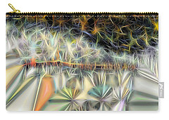 Carry-all Pouch featuring the digital art Sparks by Ron Bissett