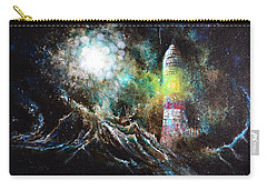 Carry-all Pouch featuring the painting Sparks - The Storm At The Start by Sandro Ramani