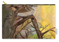 Carry-all Pouch featuring the painting Sparrow by Sherry Shipley