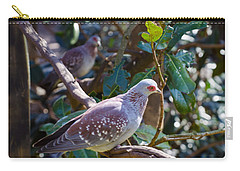 Carry-all Pouch featuring the photograph Speckle Pigeon by Donna Brown